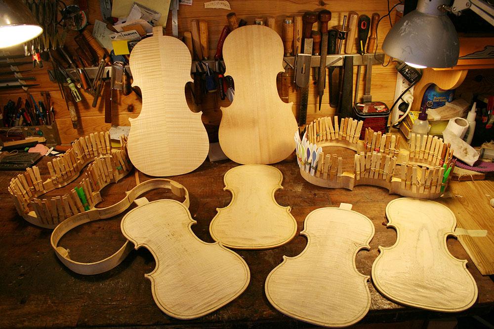 construccion de violines